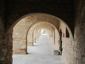 Arched passage Chateau Salse