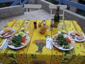 Lunch a la terrace - Chez Caulkins