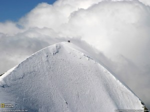 The Breithorn's impressive finish with a breathtaking view