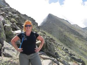 Michelle_starting_climb